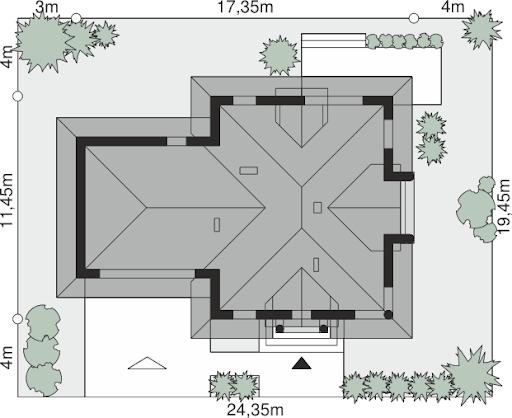 Dom przy Sielskiej 8 - Sytuacja