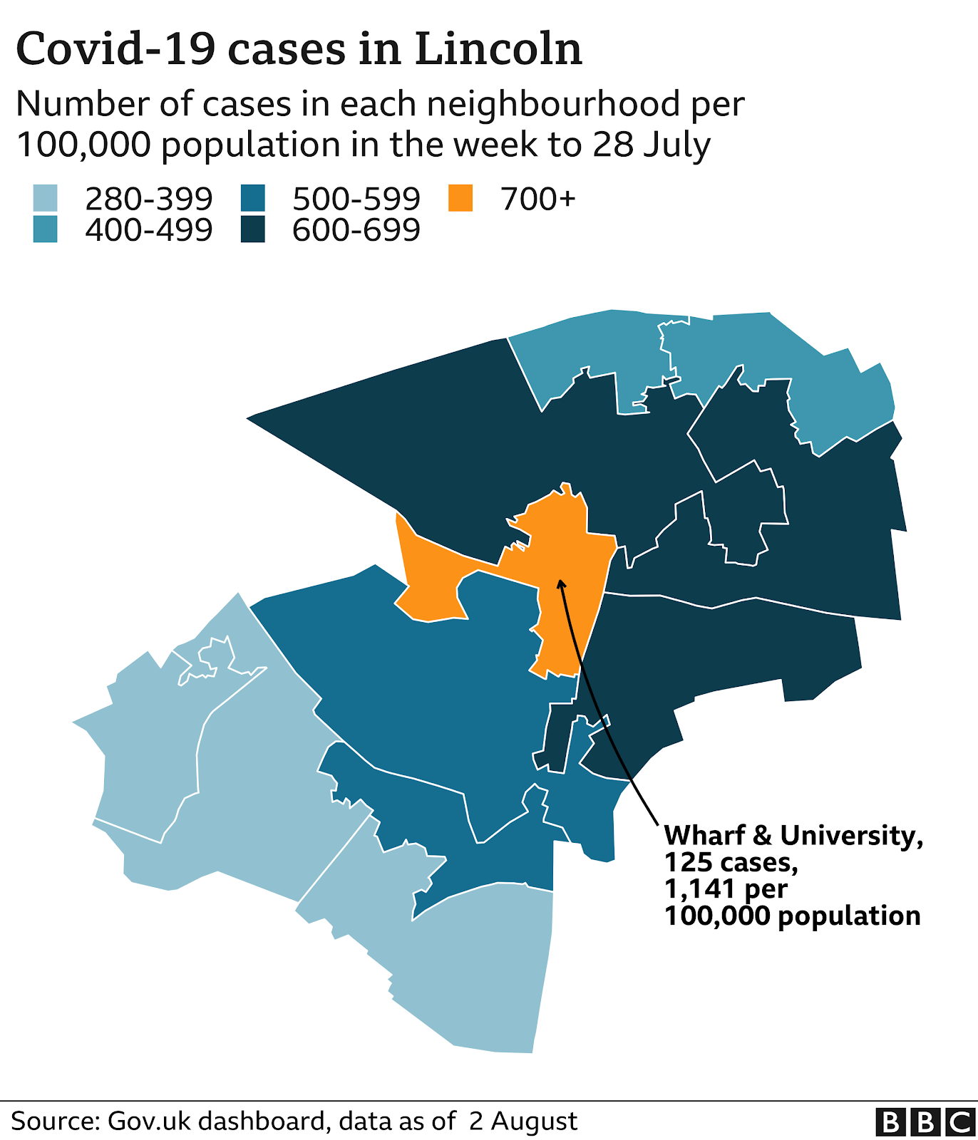 Graphic illustrating cases rates in Lincoln
