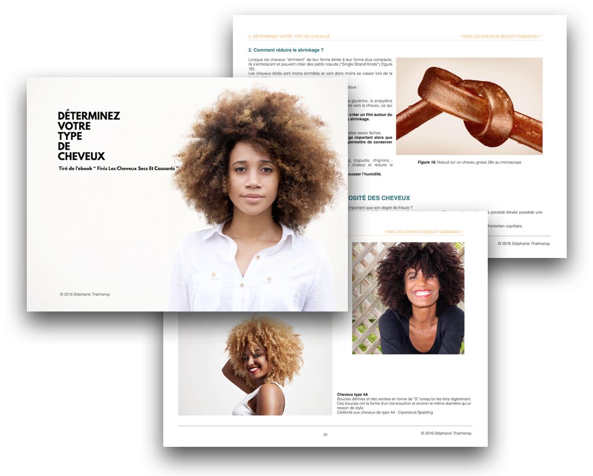 Determinez votre type de cheveux crepus