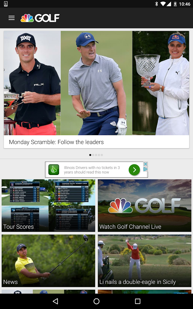 Golf Channel Mobile Android 8