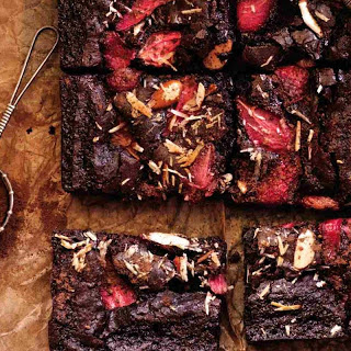 Strawberry Brownie Bars