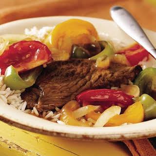 Slow-Cooker Pepper Steak.