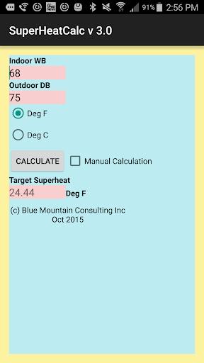 Superheat Calculator