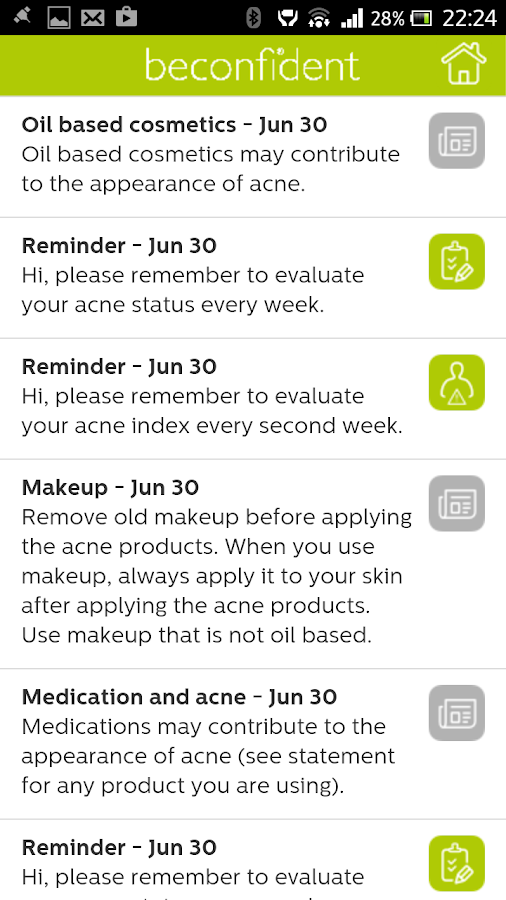 Beconfident Acne- screenshot