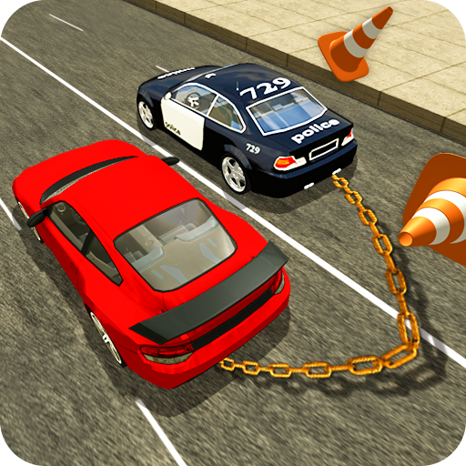Prado Chain Car Driving: Chained Car Games