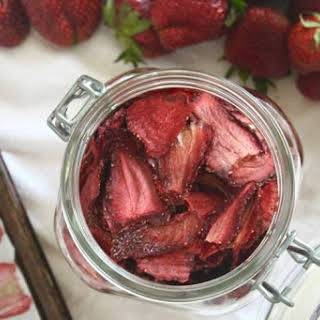 Oven Dried Strawberries.