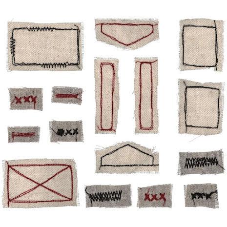 Tim Holtz Idea-Ology Stitched Scraps 16/Pkg