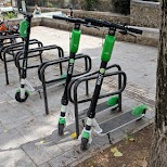 LIME scooters in Paris in Paris, Paris - Ile-de-France, France