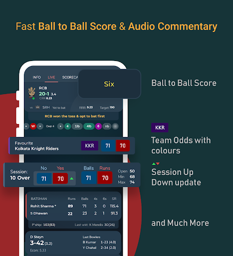 Live Line & Cricket Scores - Cricket Exchange Apk 2