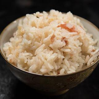 Umeboshi Takikomi Gohan | Rice with Dashi and Pickled Plum 🍚.