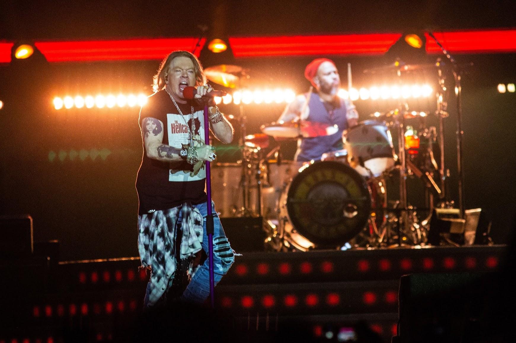 【迷迷現場】詳細報導 搖滾傳說 槍與玫瑰 Guns N' Roses 降臨台灣 兩萬人大合唱場面震撼