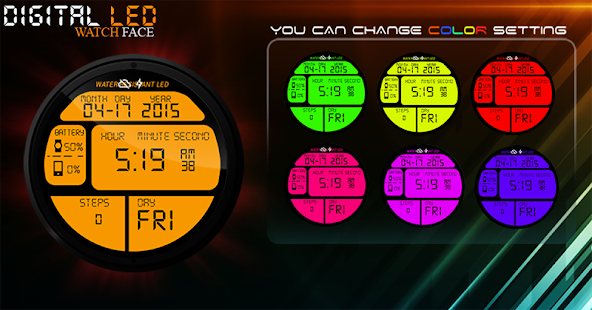 Digital LED Watch Face- screenshot thumbnail