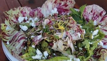 Lemony Green Salad With Radicchio & Pepitas Recipe