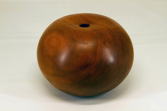 "Photo: Eliot Feldman 6 1/2"" x 5"" hollow vessel [cherry]"