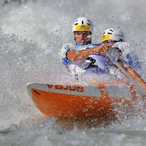 Whitewater by Bostjan Pulko - Sports & Fitness Watersports ( world cup, tacen, slovenia, kayak, sava river )