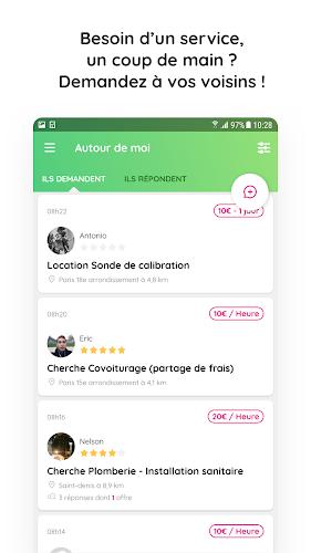 AlloVoisins - le coup de pouce du quotidien Android App Screenshot