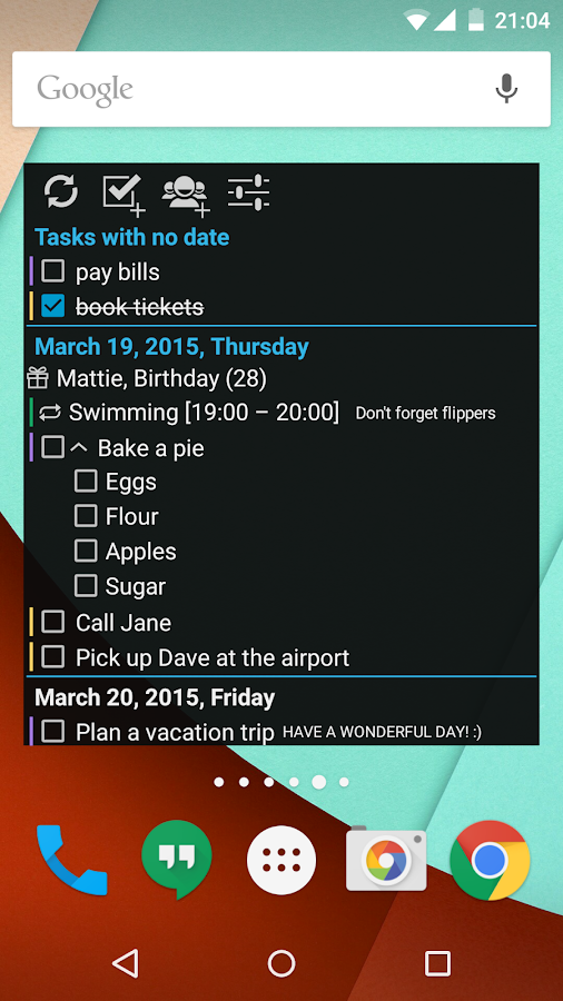 Day by Day Organizer - screenshot