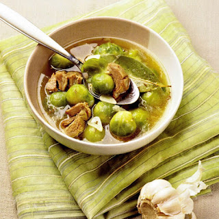 Chicken And Brussel Sprouts Soup.