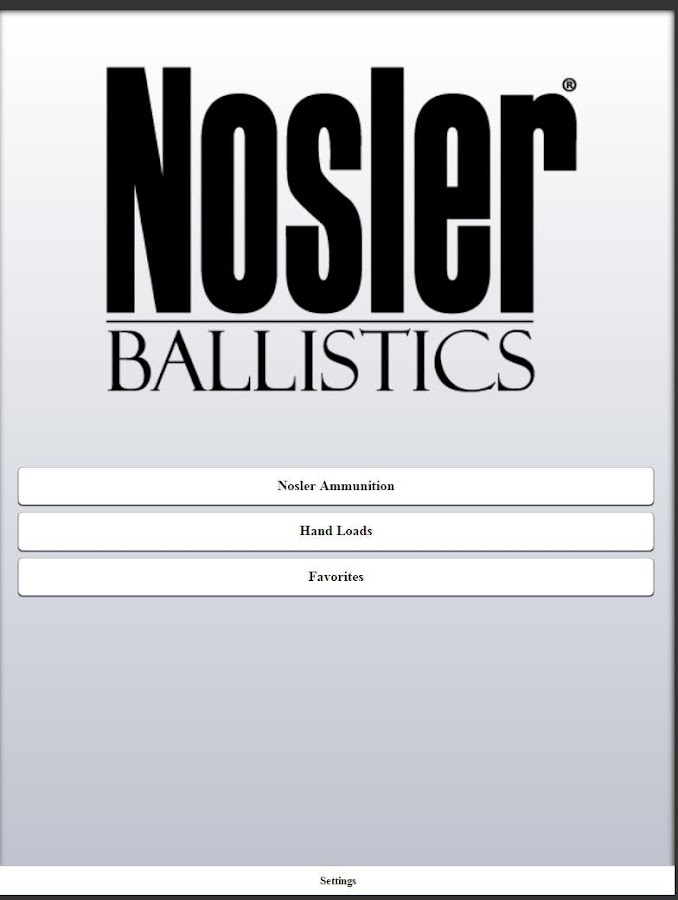 Nosler Ballistics 2.0- screenshot