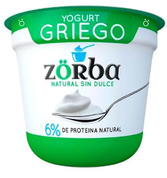 Yogurt Griego Zorba Sin   dulce x 135Gr