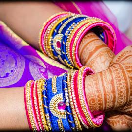 wedding Bride by Bhukya Deepika - Wedding Bride ( bride, bangles, wedding, indian wedding, indian )
