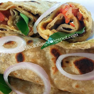 Egg Frankie Recipe-Chapati Egg Roll Recipe Indian Style-Egg Wrap.