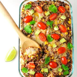 Chicken Quinoa Mexican Casserole