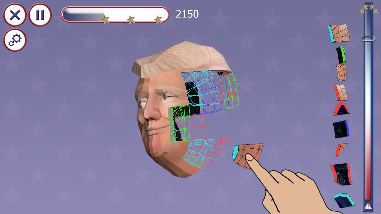 Trump 3D Puzzle- screenshot