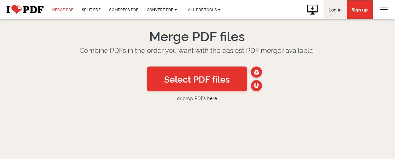 pdf's samenvoegen