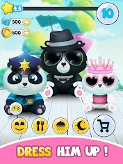 Pu - Cute giant panda bear, baby pet care game app (apk) free download for Android/PC/Windows screenshot