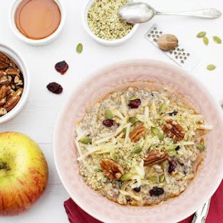 Apple & Cranberry Hemp Porridge [vegan] [gluten free].