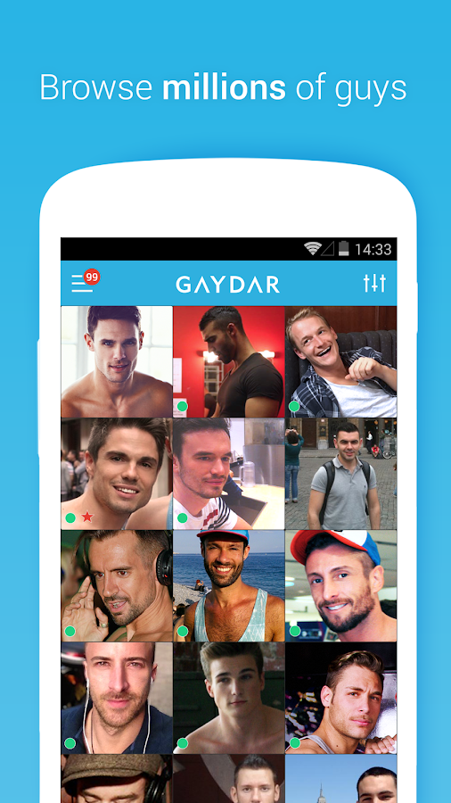 Gaydar- gay & bisexual dating: captura de pantalla