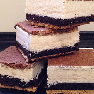 S'Mores Brownie Ice Cream Sandwiches.