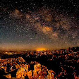 by Brian Menasco - Landscapes Starscapes ( nighttime, national park, milky way, bryce canyon, stars, galaxy )