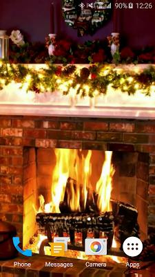 Christmas Fireplace LWP - screenshot