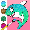 Baby Shark Glitter Coloring Game icon