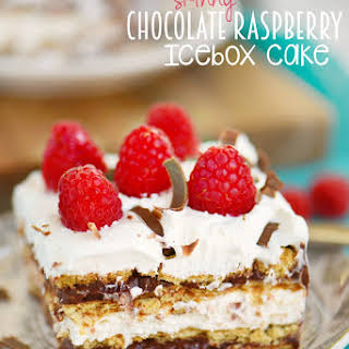 Skinny Chocolate Raspberry Icebox Cake.