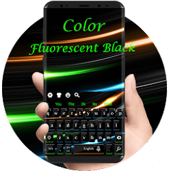 Color Fluorescent Black Keyboard  Theme