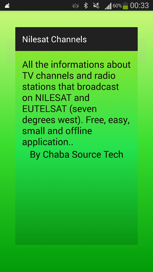 New Frequencies Nilesat 2018 - Apps on Google Play