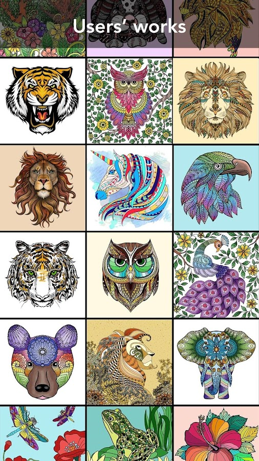 Animal Coloring Book Screenshot
