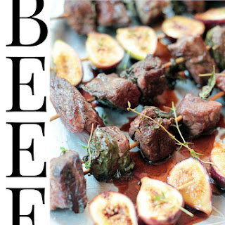 Grilled Beef and Fig Kabob Salad with Merlot Vinaigrette