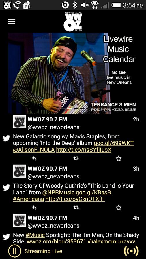 WWOZ- screenshot