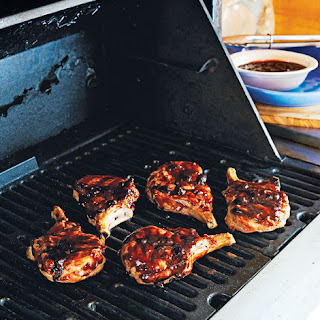 Blueberry Barbecue Finishing Glaze.