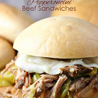 Slow Cooker Pepperoncini Beef Sandwiches.
