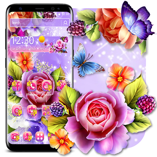 Colorful Shiny Flower Theme