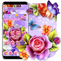 Colorful Shiny Flower Theme APK