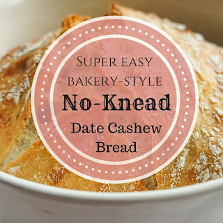 Easy No-knead Bread Recipe with Dates & Cashews
