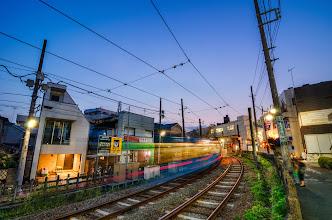 Photo: The colors of dusk near Shimotakaido Station in Tokyo, Japan