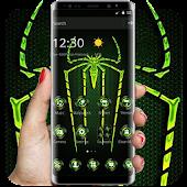 Tải Green Fluorescent Spider Theme APK