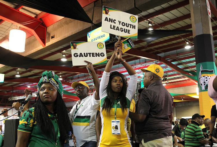 ANC Youth League members on day two of the ANC 54th national conference.